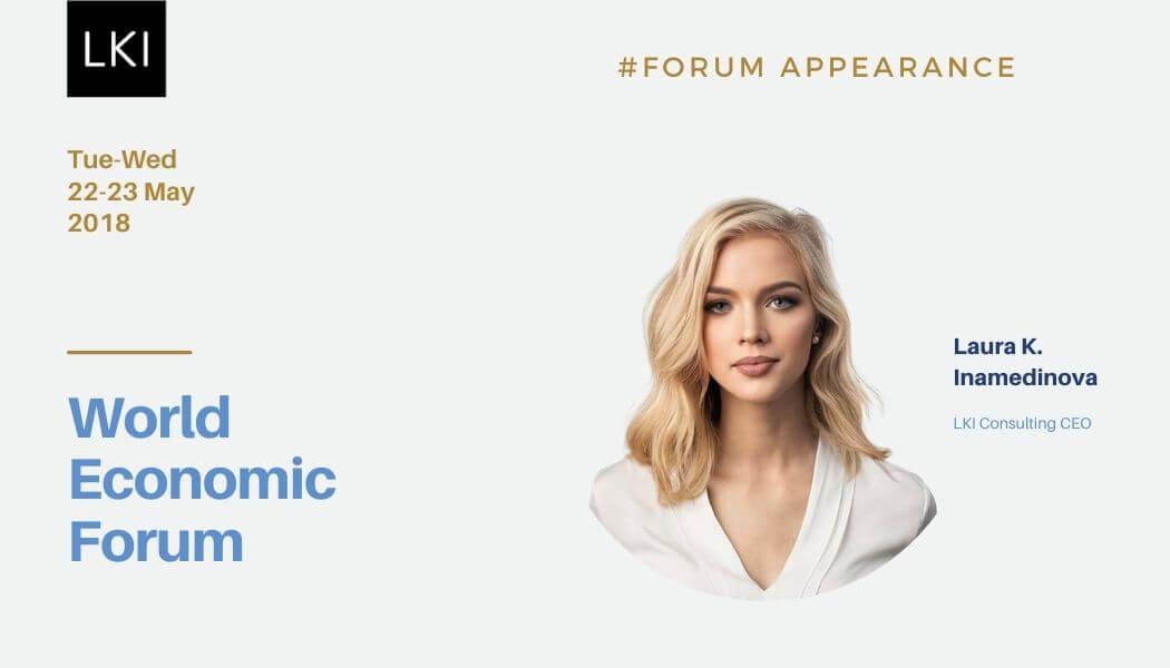 Laura K. Inamedinova, the founder of LKI Consulting attended World Economic Forum in Davos