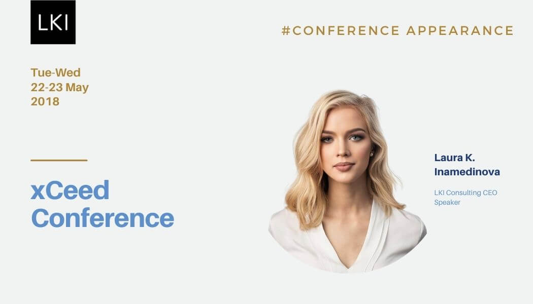 LKI Consulting founder, Laura K. Inamedinova, was invited to speak at xCEEd conference