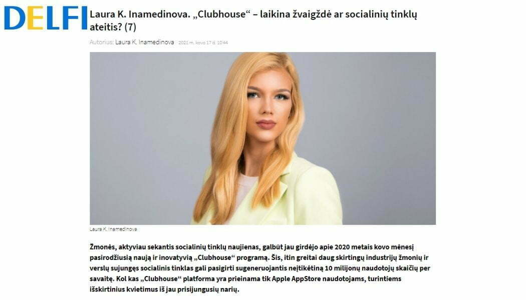 LKI Consulting CEO writes for one of the biggest news channels in Lithuania